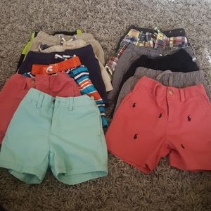 Toddler boy shorts left size 12mths right 18ths